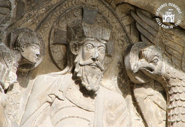 MOISSAC (82) - Portail et porche roman de l'abbatiale