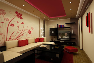 Red and White Living Room Designs6