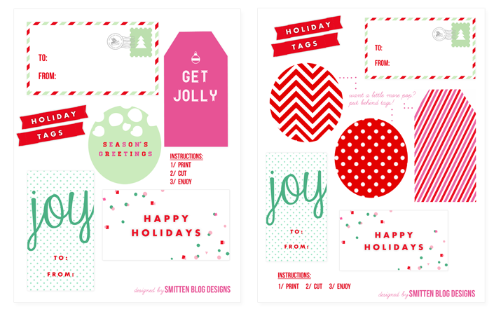 My favorite free holiday gift tags house of jade interiors blog i love finding beautiful tags and i love it even more when they are free smitten design is offering free printable tags on their blog today negle Choice Image