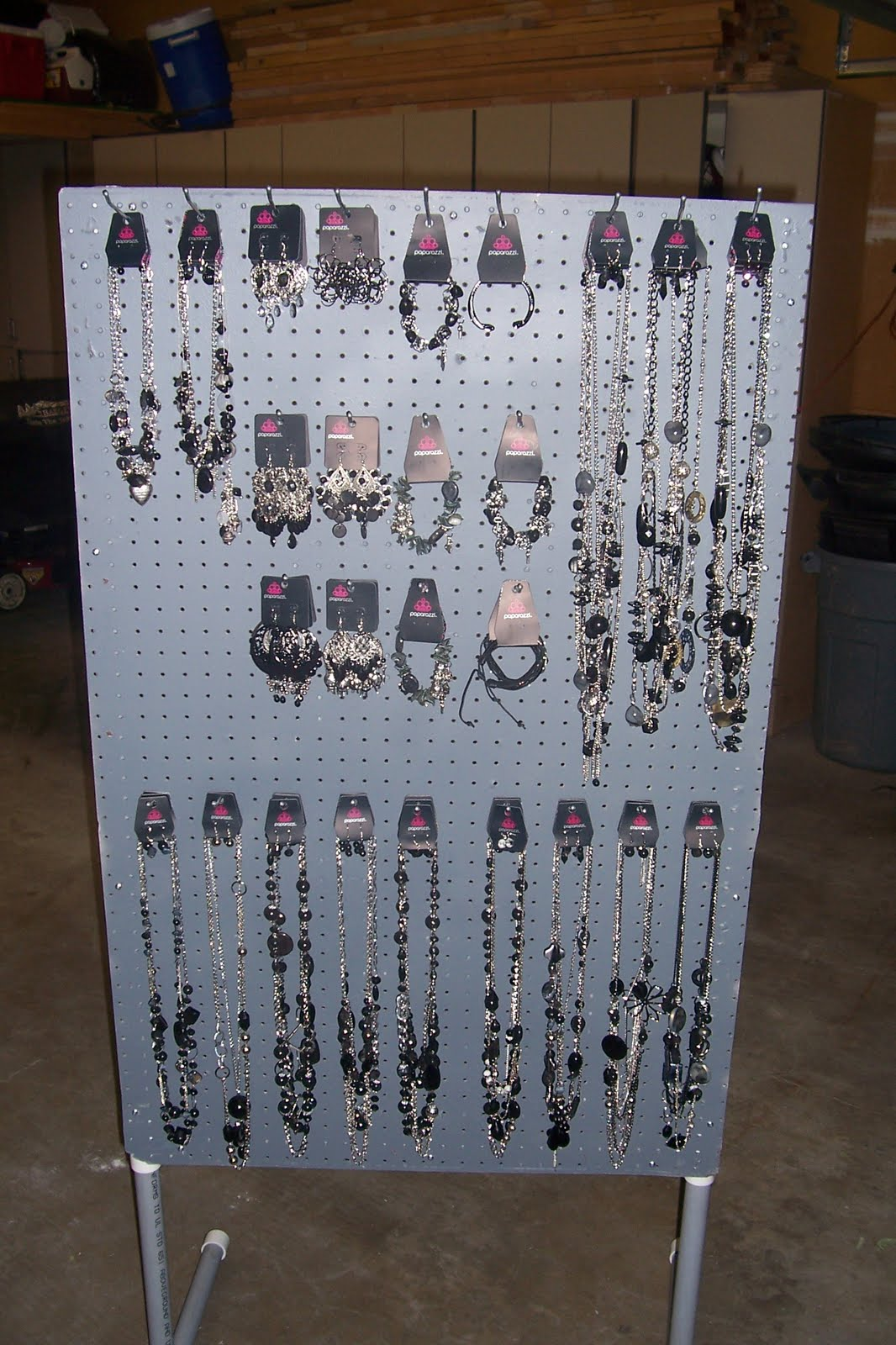jewelry for five support vertical pegboard displays