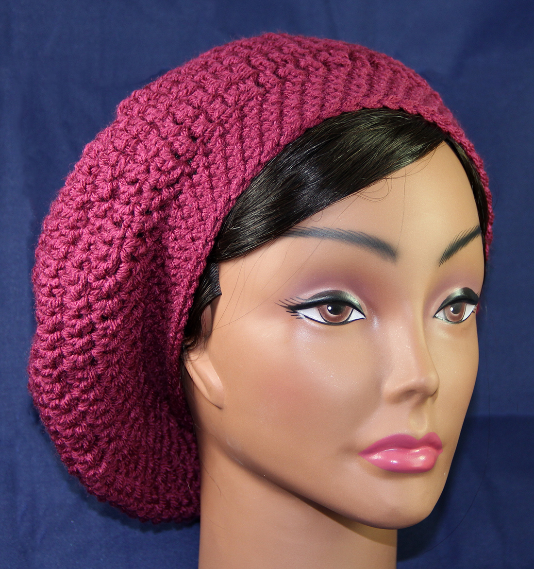 Lady Anne\'s Cottage: Crocheted Slouchy Style Beret Hat Pattern...