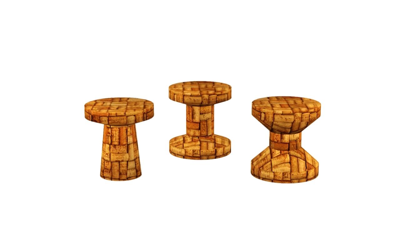 My Sims 3 Blog Jasper Morrison Vitra Cork Stools By Zveki
