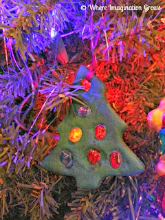 Salt dough melted bead christmas ornaments gifts tree