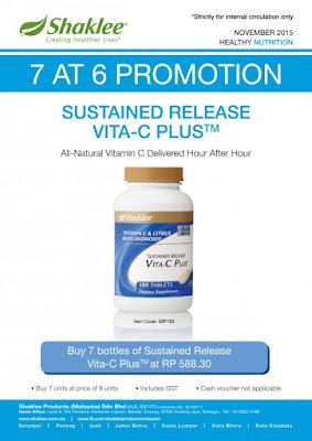 Shaklee Bertam:Promosi November Vitamin C 500mg