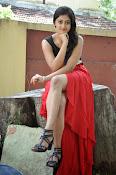 Meghasri glamorous photos in red-thumbnail-9