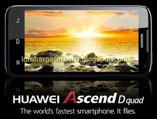 Harga Huawei Ascend D Quad Spesifikasi 2012