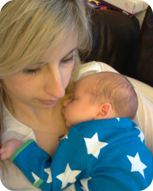 newborn snuggles, mummy and son, mother and son asleep, newborn baby, the essential ones