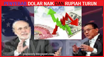 Penyebab Dolar Naik dan Rupiah Turun