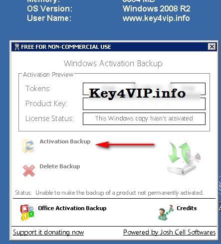 Hướng dẫn sao lưu và phục hồi bản quyền Windows Server 2008 R2,Windows 7 bản quyền 8.1 và Office 2013,
