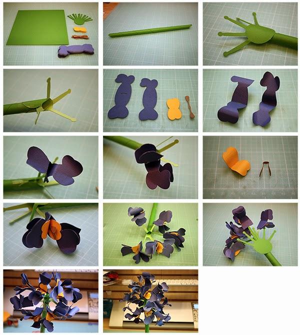 3d paper flower making