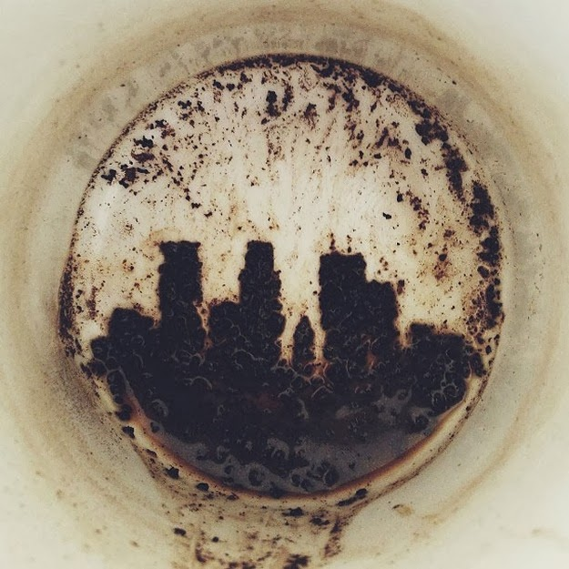 Minneapolis Skyline Drawn In Coffee Sludge