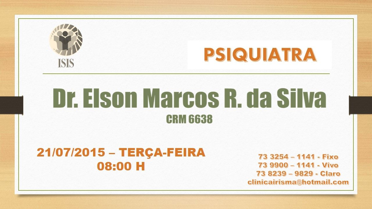 PSIQUIATRA  DR. ELSON MARCOS REIS