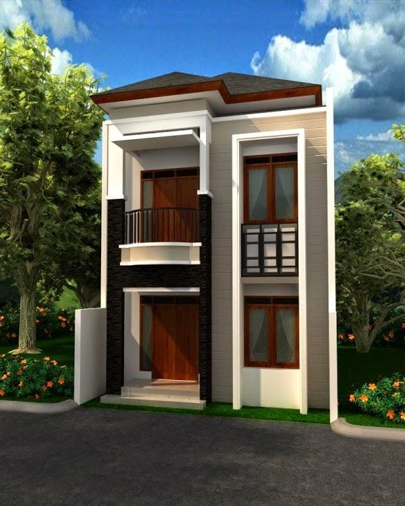 Desain Rumah Kecil Minimalis 2 Lantai Terbaru 2017