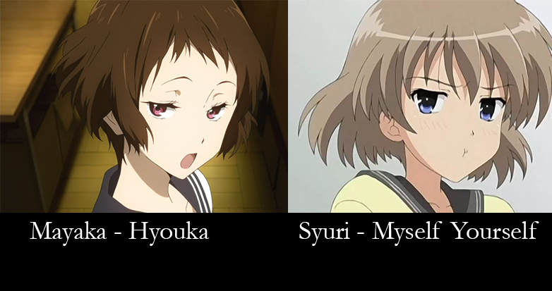 Similar characters - mayaka and syuri