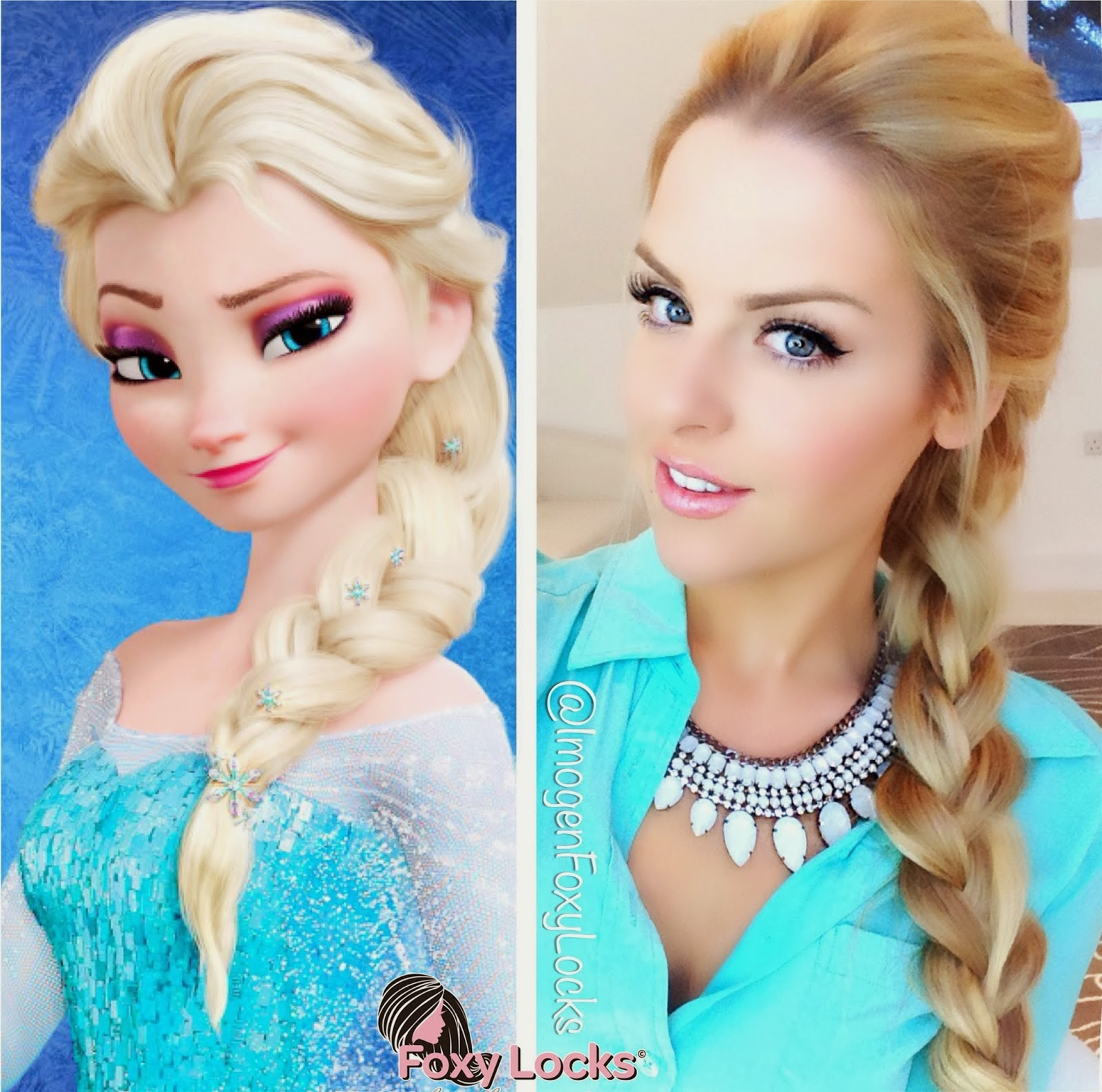 Braided Crown Elsa S Braid Hair Tutorial From Disney S