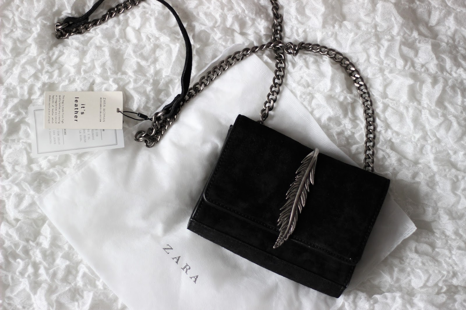 zara-black-feather-bag