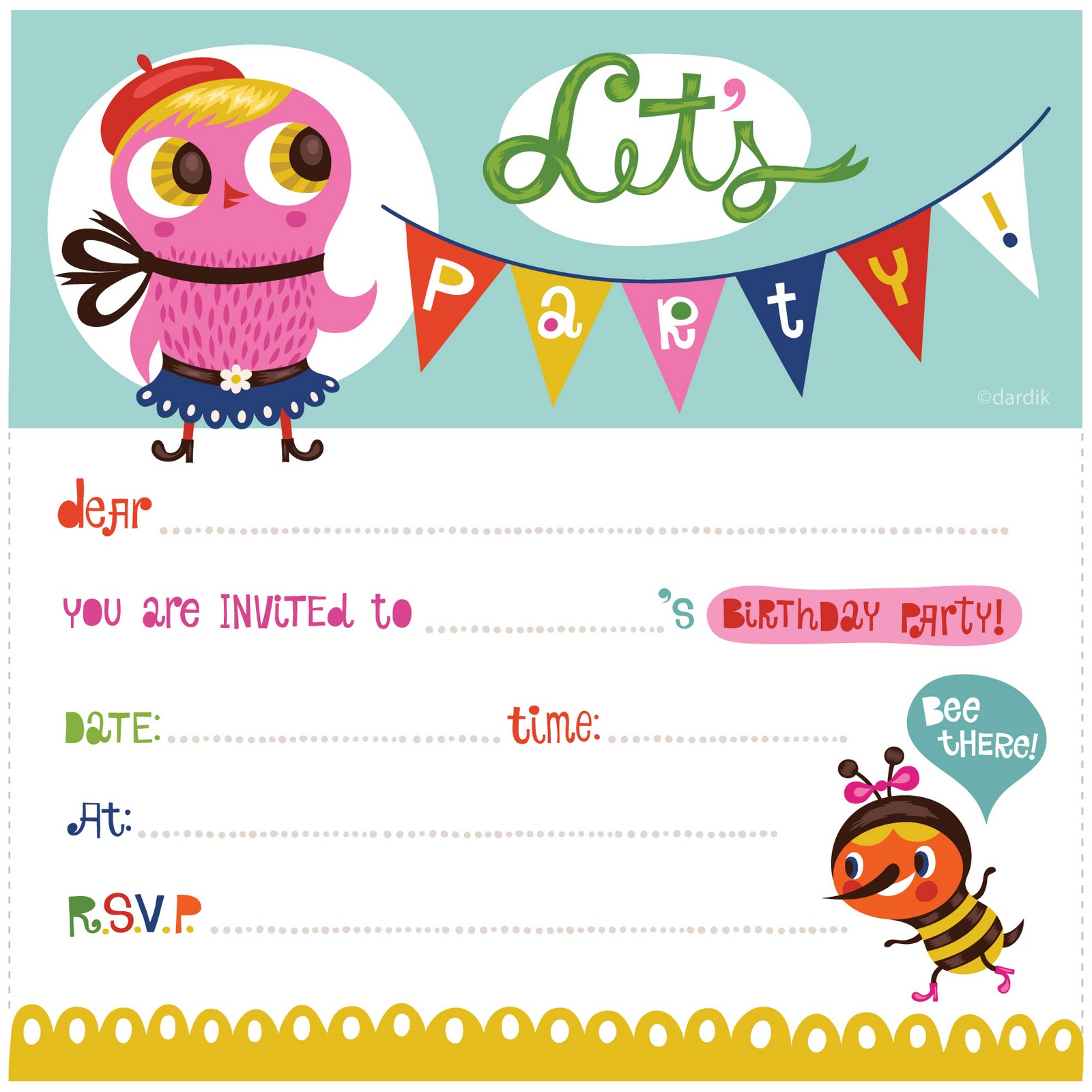 Bday invite demirediffusion orange you lucky my printable birthday invitation filmwisefo