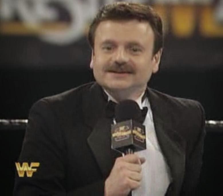 WWF / WWE: Wrestlemania 10 - Howard Finkle got a new head of hair