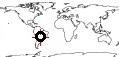 minimapa de la Ubicacion geografica de Paraguay