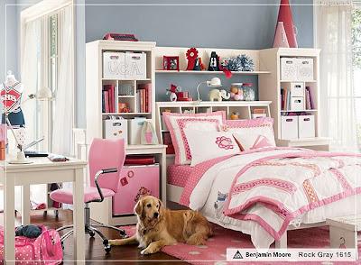 dormitorio decoración rosa