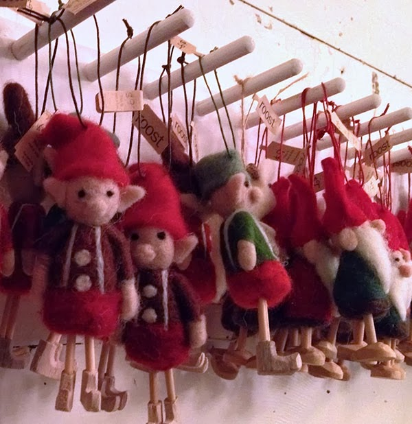 wooly elf ornaments
