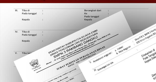 Contoh Surat Perjalanan Dinas Sppd Sekolah Download Doc Microsoft Word File Wikiedukasi