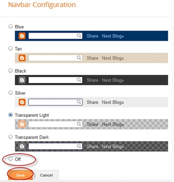 Langkah-langkah menghilangkan navigation bar pada blogger.
