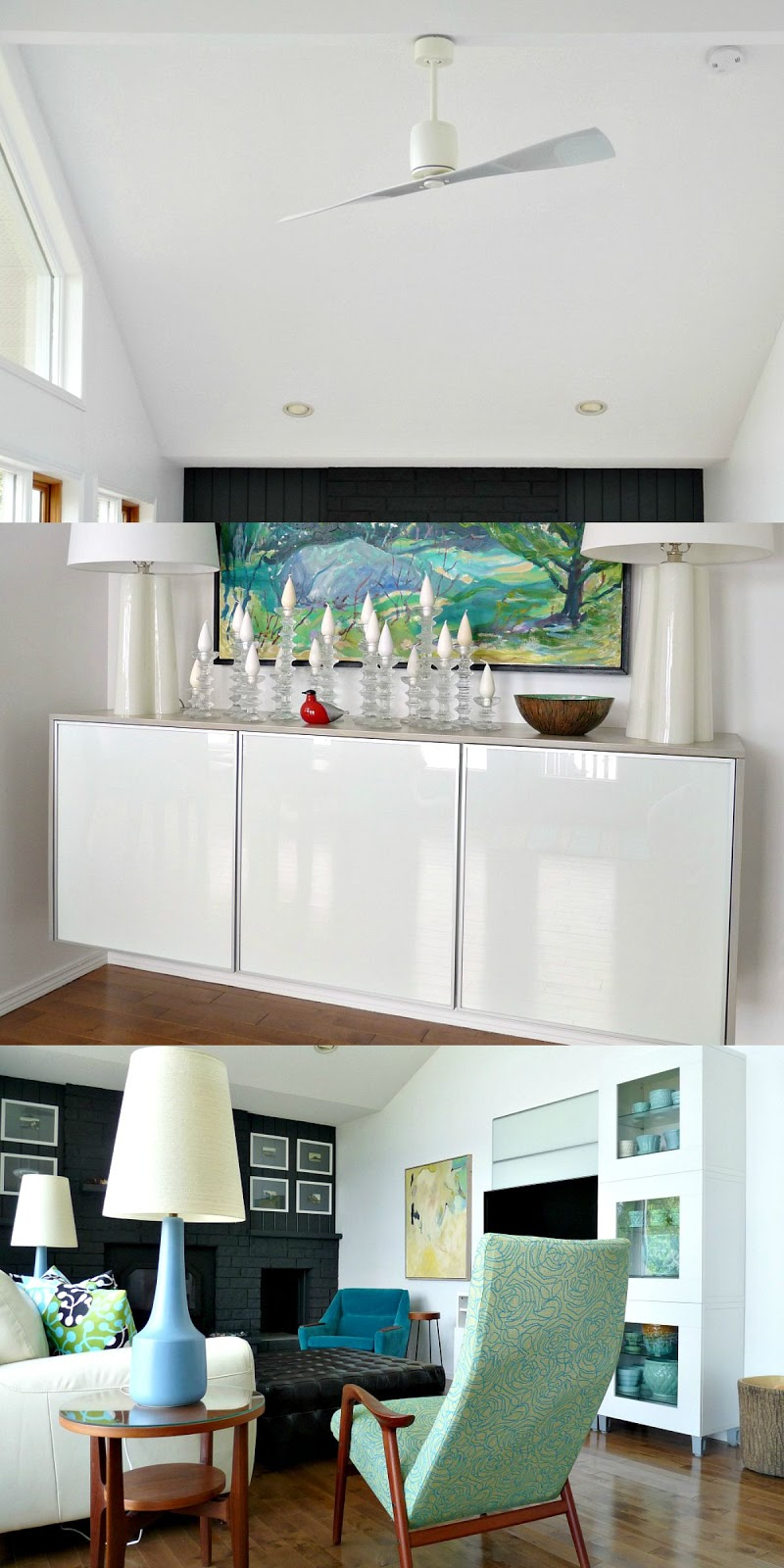 White glass surfaces in the home