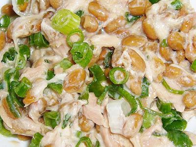 納豆に(かつおの油漬け)ツナねぎマヨネーズ