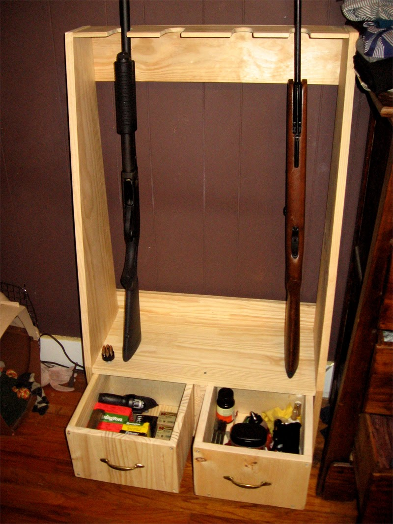 wood gun rack 3 slots left ventricular