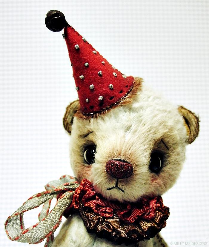 viscose clown teddy bear