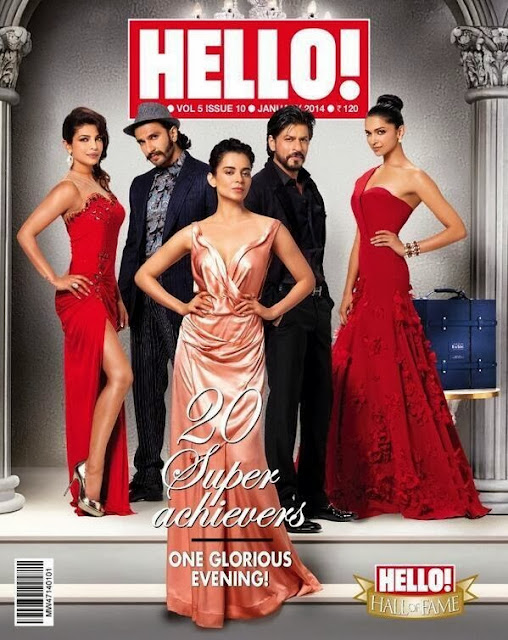 Shah Rukh, Priyanka, Ranveer, Deepika, Kangna cover Hello! January issue