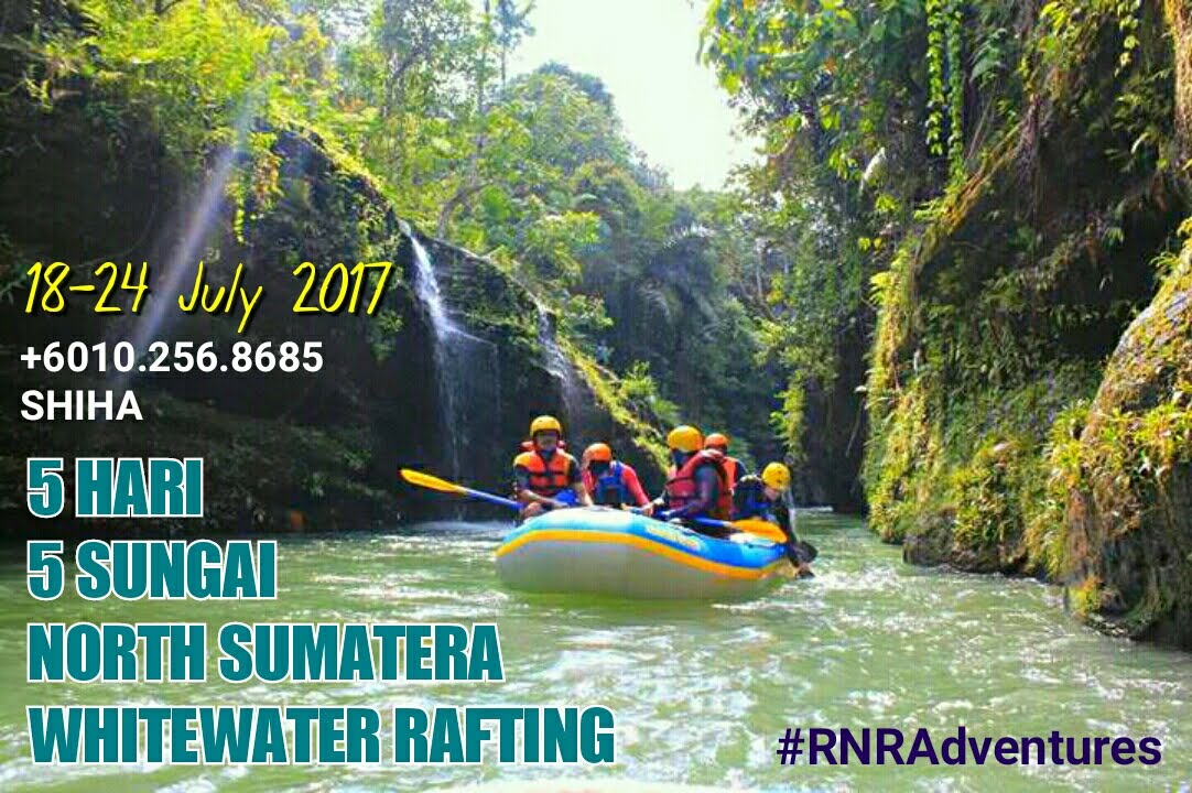 WHITEWATER RAFTING 5 RIVERS 5 DAYS . NORTH SUMATERA