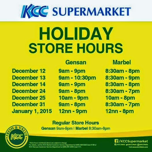 Christmas Holiday Mall Hours