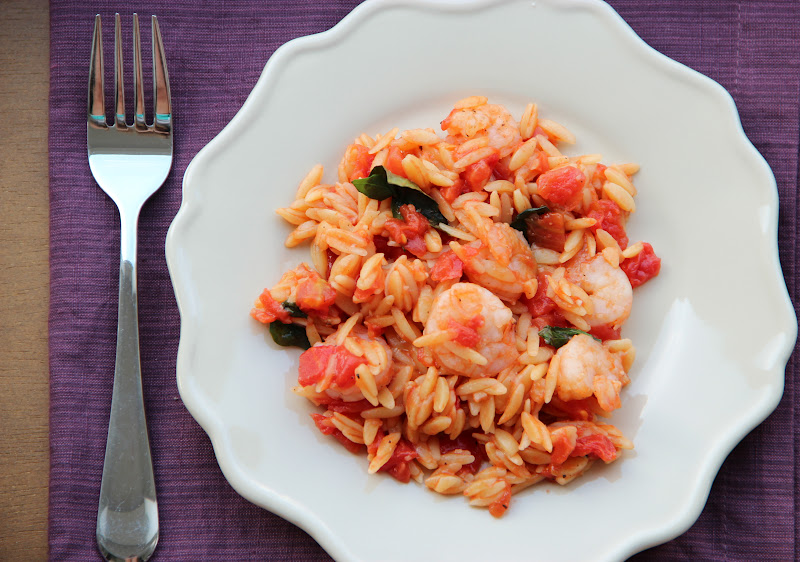 the life of a wife: Skillet Shrimp & Orzo