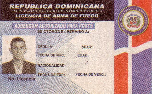 Informaci n legal tipos de licencias sobre arma de fuego for Interior y policia porte y tenencia