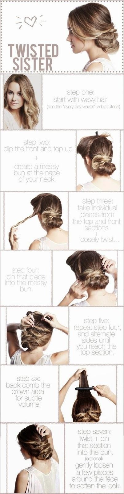 Cara Mengikat Rambut Ikal Panjang Yang Mudah Ala Twisted Updo