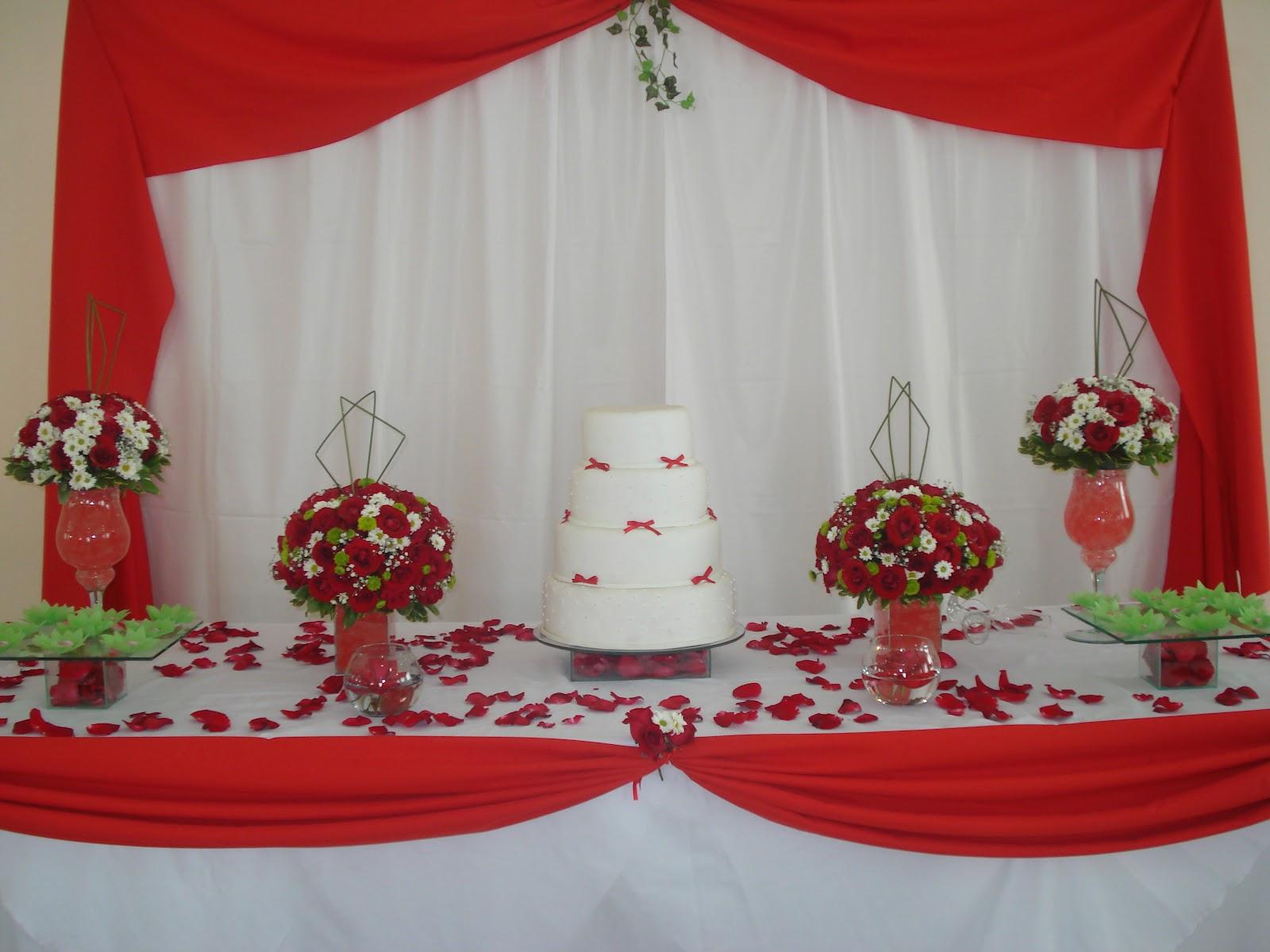 casamento vermelho, mesa de bolo vermelho,buffet para casamento em