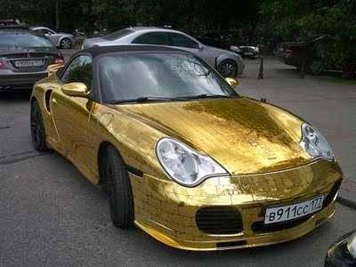 9 Tampilan Mobil Mewah Berlapis Emas