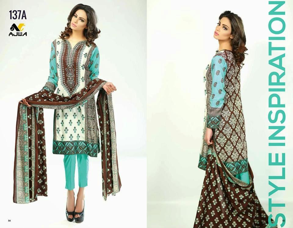 Pakistani Ajwa lawn prints 2015