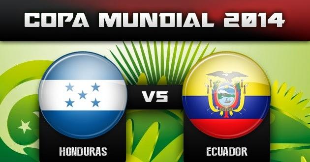 Honduras 1 - 2 Ecuador. Grupo E.