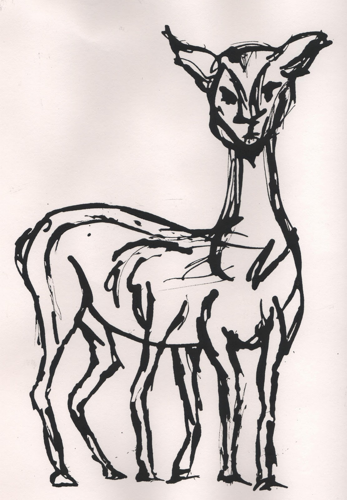 Antelope Line Drawing i Tried Drawing my Antelope