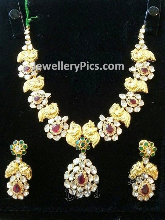 Chakri diamonds pachi necklace