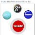 Icon Media Share With Hover Slide