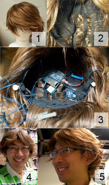 Technology, Wig, Hair, Computer, Japan, Sony, Labolatory, Human, Head, SmartWig, Brain, Waves, Toyko, GPS, Walkman, Device, Mind, World, Navigate, Company, Google, Glasses,