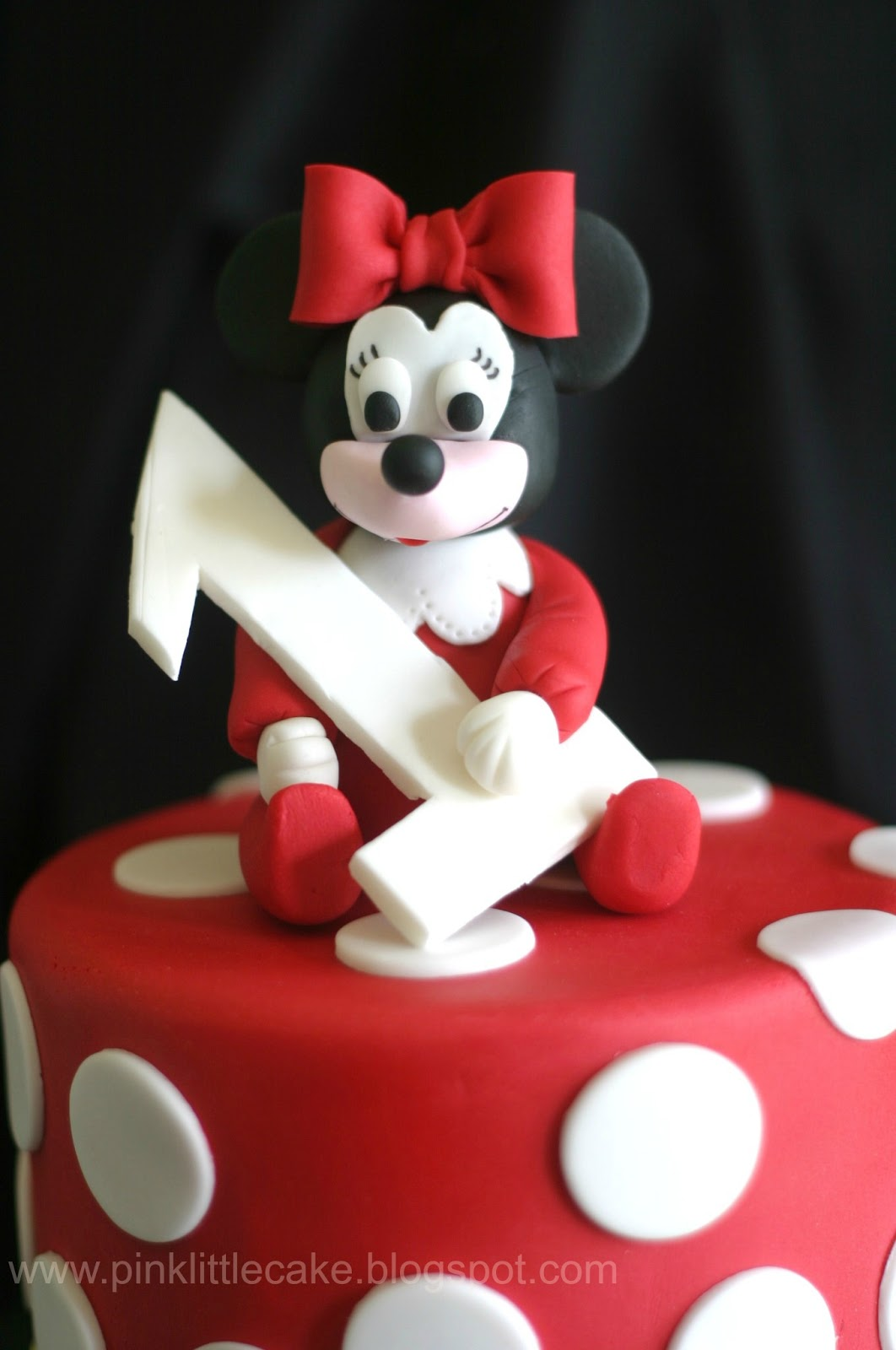 Pink Little Cake Red PJs Baby Minnie Mouse Cake