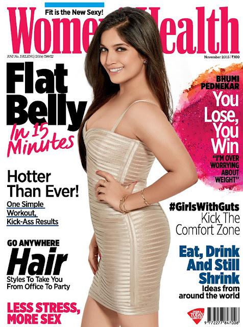 Actress @ Bhumi Pednekar - Women's Health India, November 2015
