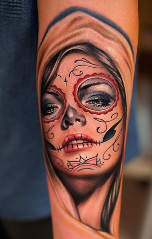 Tatuajes de catrinas mexicanas significado belagoria la web de los tatuajes - Santa muerte tatouage signification ...