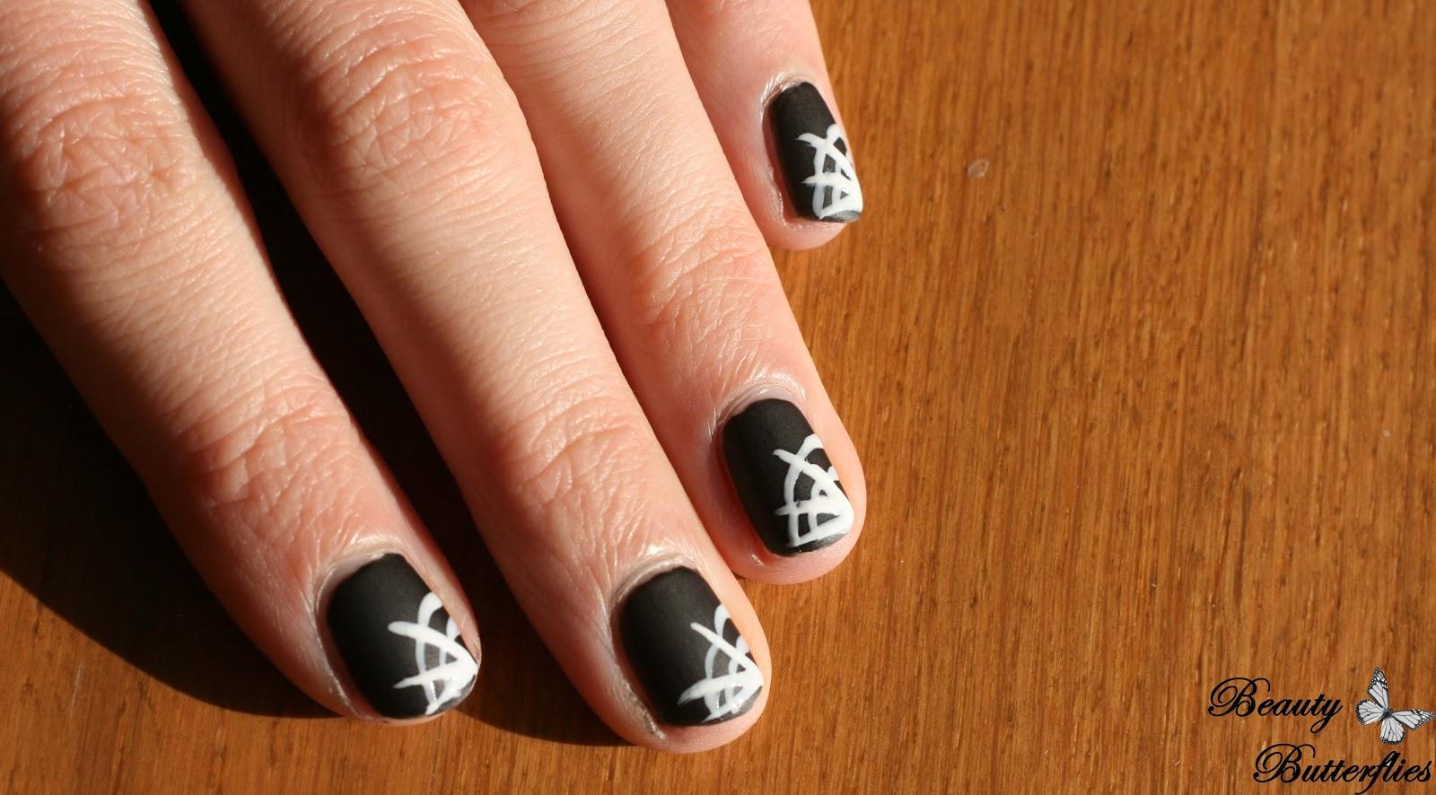 Halloween] Spider Web Nails