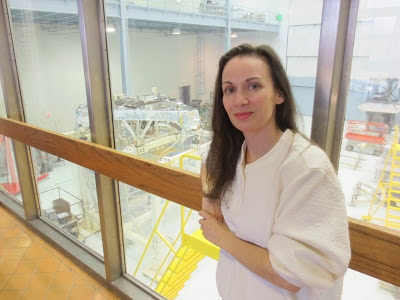Heather with James Webb Space Telescope